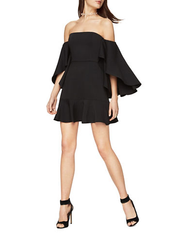 Bcbg Maxazria Simone Off-the-Shoulder Dress-BLACK-10