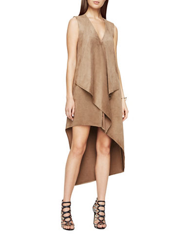 Bcbg Maxazria Trar Faux-Suede Dress-GREEN-XX-Small