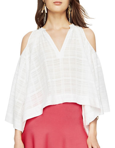 Bcbg Maxazria Elin Cold-Shoulder Top-WHITE-X-Small