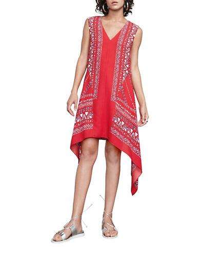 Bcbg Maxazria Alena Scarf-Print Dress-BLUE-Small