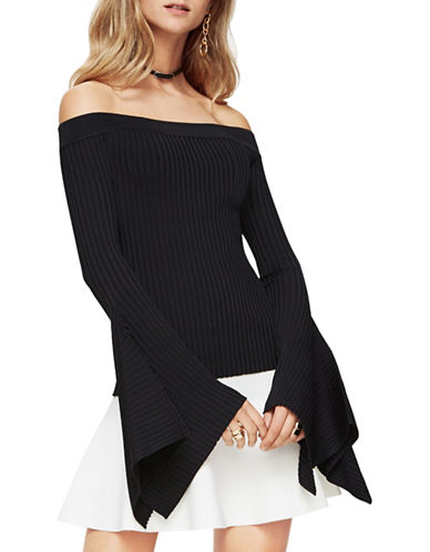 Bcbg Maxazria Stevie Off-the-Shoulder Top-BLACK-Large