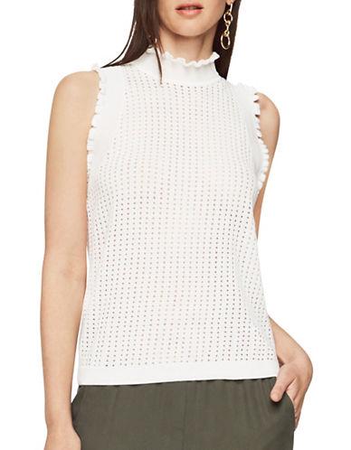 Bcbg Maxazria Axel Eyelet Sweater-WHITE-Small