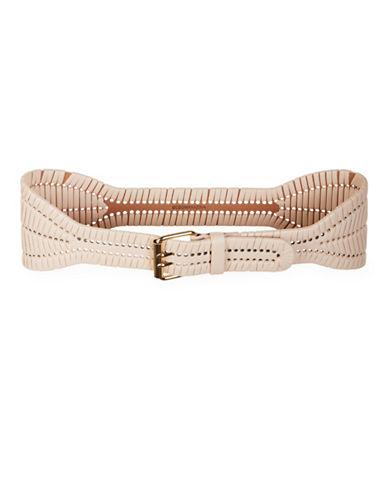 Bcbg Maxazria Woven Waist Belt-NATURAL-X-Small/Small
