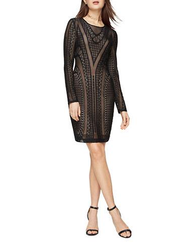 Bcbg Maxazria Lala Lace Dress-BLACK-XX-Small