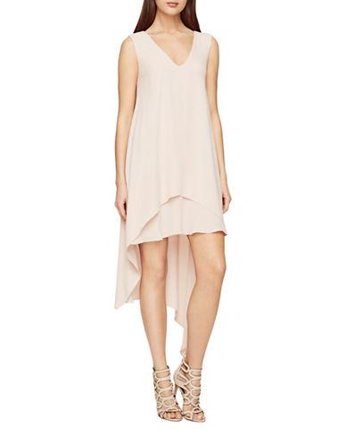 Bcbg Maxazria Kaira Asymmetrical Layered Dress-PINK-Medium