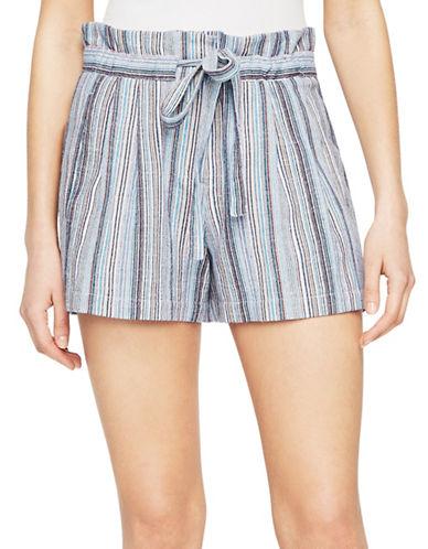 Bcbg Maxazria Renee Striped Shorts-BLUE-Small