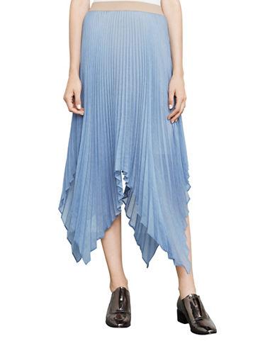 Bcbg Maxazria Rumi Asymmetric Pleated Skirt-BLUE-Large