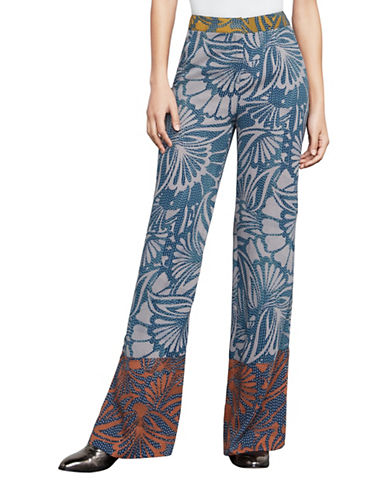 Bcbg Maxazria Chris Floral-Print Wide-Leg Pants-RED-Large