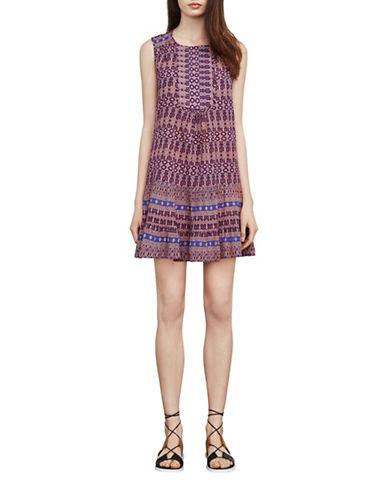 Bcbg Maxazria Yulissa Mosaic Print Dress-PINK MULTI-Large