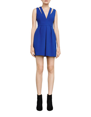 Bcbg Maxazria Clayre Double-Strap Pleated Dress-BLUE-2