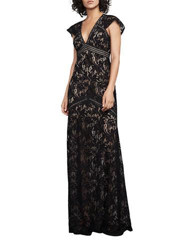 Bcbg Maxazria Katrina Lace Gown-BLACK-12
