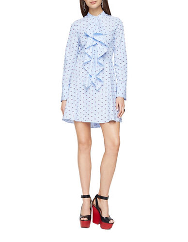 Bcbg Maxazria Chelsea Dotted Shirt Dress-BLUE-Large