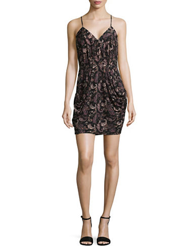 Bcbgeneration Paisley Dress-BLACK COMBO-Large