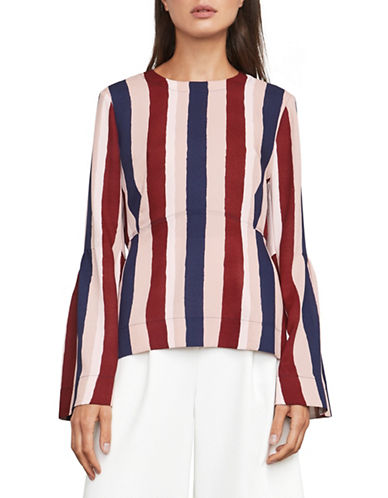 Bcbg Maxazria Jeanne Stripe Bell Sleeve Blouse-MULTI-Medium