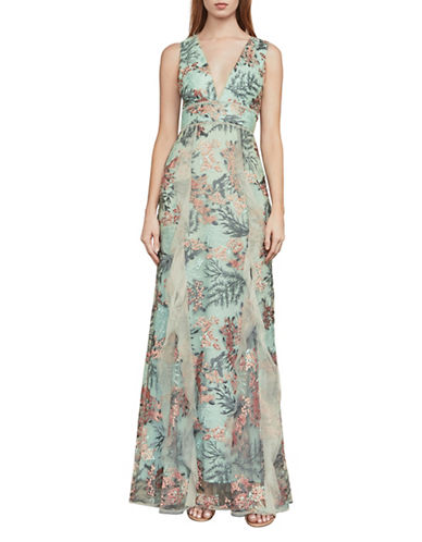 Bcbg Maxazria Brea Enchanted Forest Gown-BLUE-2