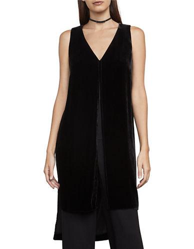 Bcbg Maxazria Silk-Blend Velvet Tunic-BLACK-X-Small