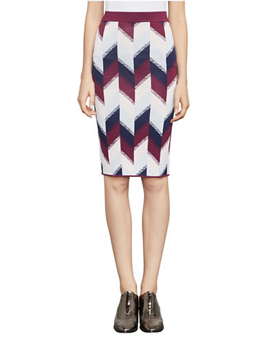 Bcbg Maxazria Geometric Print Pencil Skirt-RED MULTI-XX-Small