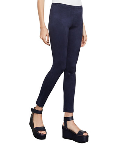 Bcbg Maxazria Mason Faux Suede Leggings-DARK NAVY-XX-Small