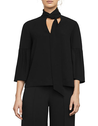 Bcbg Maxazria Mellie Neck-Scarf Top-BLACK-X-Small