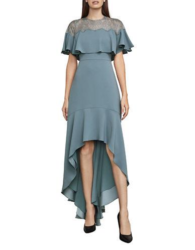 Bcbg Maxazria Barbara Ruffle Satin Hi-Lo Gown-BLUE-0