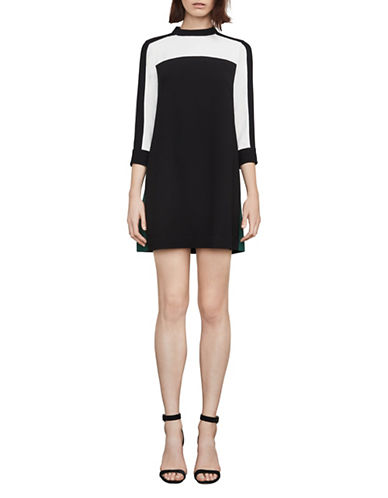 Bcbg Maxazria Stephanie Colourblocked A-Line Dress-BLACK COMBO-Medium