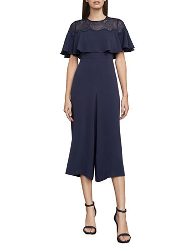 Bcbg Maxazria Sofie Cape Jumpsuit-BLUE-Medium