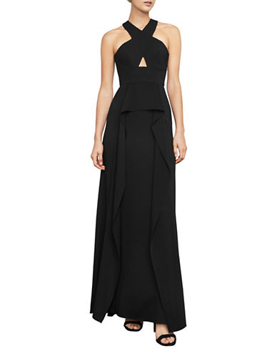 Bcbg Maxazria Bryleigh Halter Gown-BLACK-2