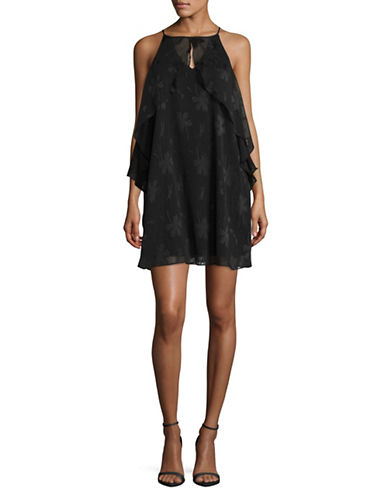 Bcbgeneration Ruffled Sheath Dress-BLACK-Small