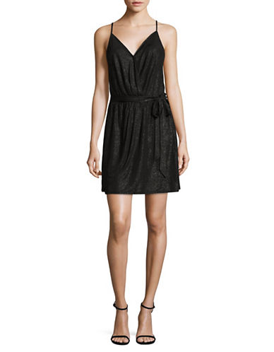 Bcbgeneration Self-Tie Dress-BLACK-Large