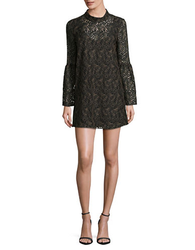 Bcbgeneration Bell Sleeve Shift Dress-BLACK-X-Small