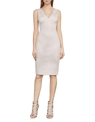 Bcbg Maxazria Alda Faux-Suede Sheath Dress-BEIGE-XX-Small