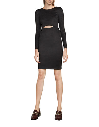 Bcbg Maxazria Whitley Knit Cocktail Dress-BLACK-Large