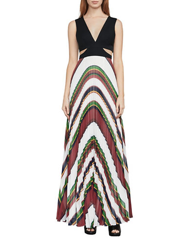Bcbg Maxazria Maryna Deco Stripe Maxi Dress-MULTI-6