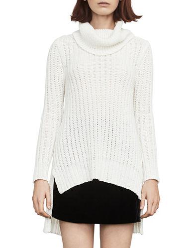 Bcbg Maxazria Jules Hi-Lo Knit Sweater-WHITE-Small