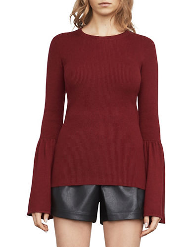 Bcbg Maxazria Waverley Flared-Sleeve Sweater-CRANBERRY-Medium