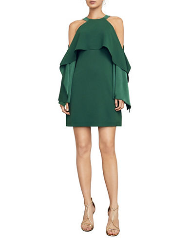 Bcbg Maxazria Tristyn Cold-Shoulder Evening Dress-GREEN-XX-Small