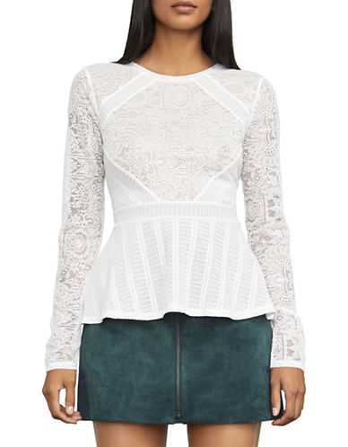 Bcbg Maxazria Capri Lace Top-NATURAL-XX-Small