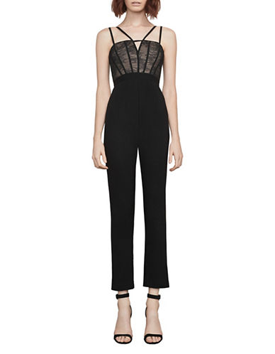 Bcbg Maxazria Woven Jumpsuit-BLACK-Medium