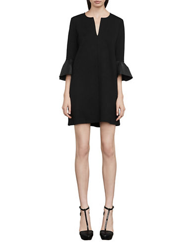 Bcbg Maxazria Catier Bell-Sleeve Dress-BLACK-Medium