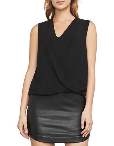 Bcbg Maxazria Netti Hi-Lo Wrap Top-BLACK-X-Small
