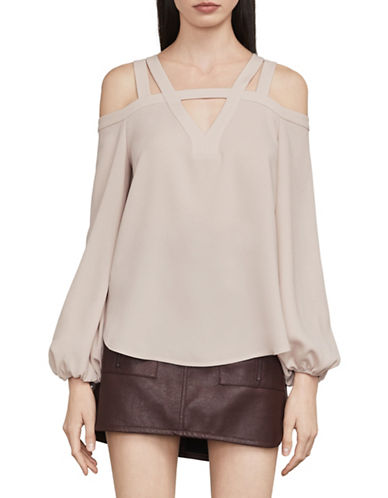 Bcbg Maxazria Tina Cold Shoulder Top-PINK-Large