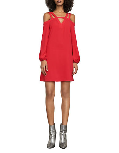 Bcbg Maxazria Weiss Off-the-Shoulder Dress-RED-XX-Small