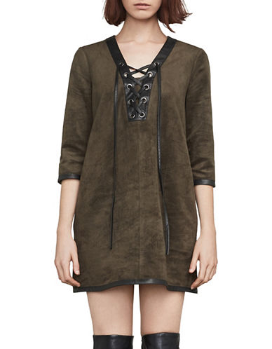 Bcbg Maxazria Yousra Faux Suede Shift Dress
