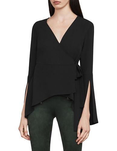 Bcbg Maxazria Jadine Wrap Top-BLACK-Small