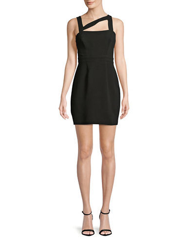 Bcbgeneration Strappy Mini Dress-BLACK-6
