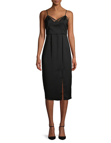 Bcbgeneration Cami Midi Slip Dress-BLACK-0