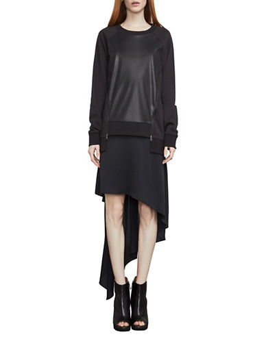 Bcbg Maxazria Two-Piece Sweatshirt Dress-BLACK-Medium