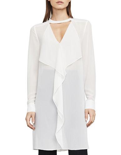 Bcbg Maxazria Shailene Ruffle Tunic Dress-WHITE-Large