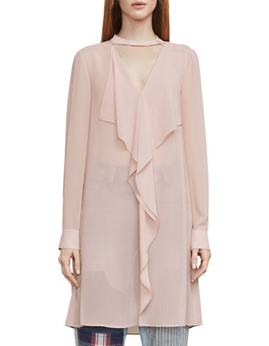 Bcbg Maxazria Shailene Ruffle Tunic Dress-ROSE-Medium