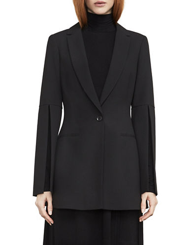 Bcbg Maxazria Gia Slit-Sleeve Blazer-BLACK-Medium